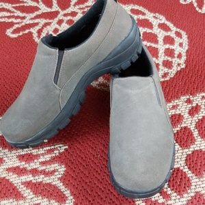 Lands End All Weather Suede Moc Shoes